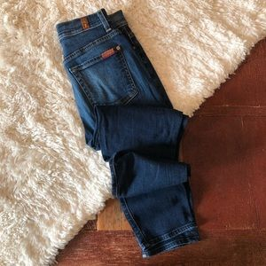 7FAM | High Rise Josefina Button Fly Skinny Jeans